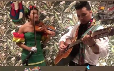 Traditionelle Live Musik aus Kolumbien
